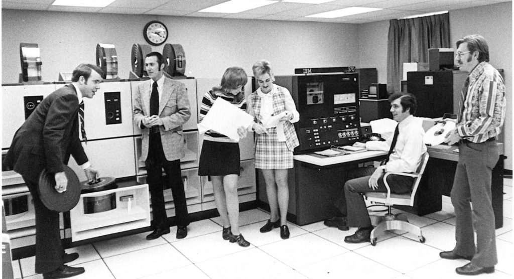 Slippery Rock State College mainframe, c. 1972 (from SRU Digital Collections)